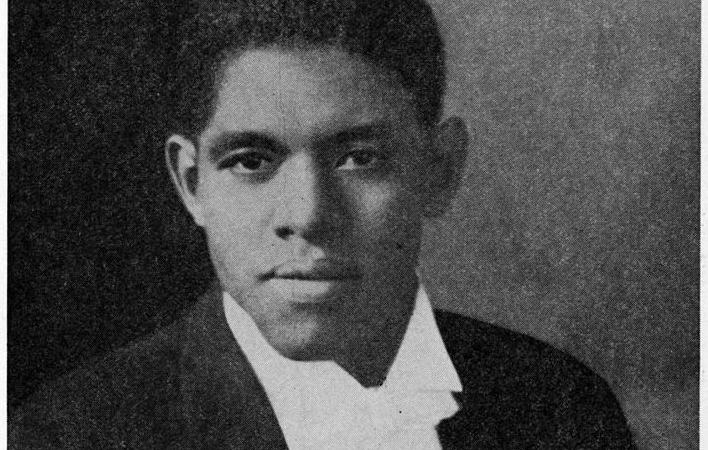 A black and white portrait of Roland Hayes