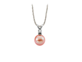 Freshwater pearl pendant, in white or pink pearl