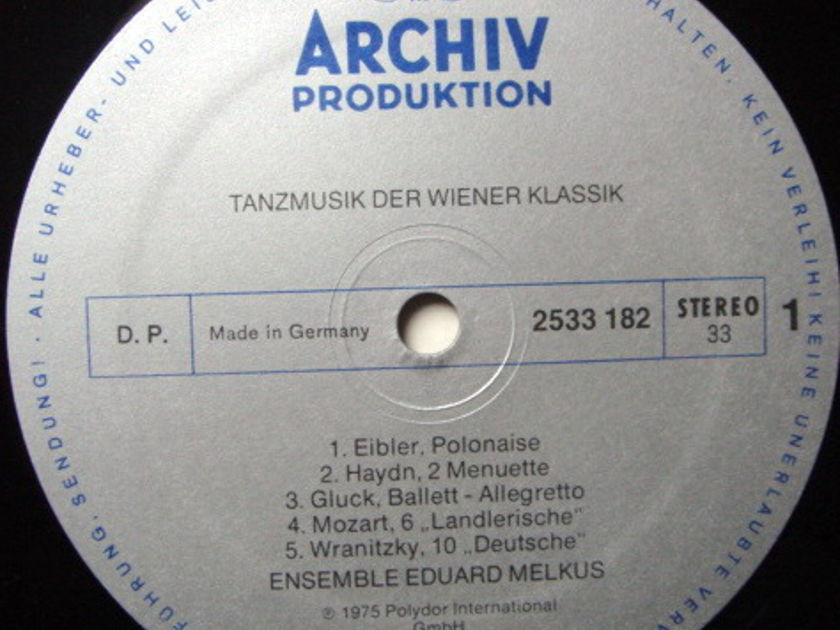 Archiv / MELKUS ENSEMBLE, - Viennese Dance Music from the Classcial Period, NM!