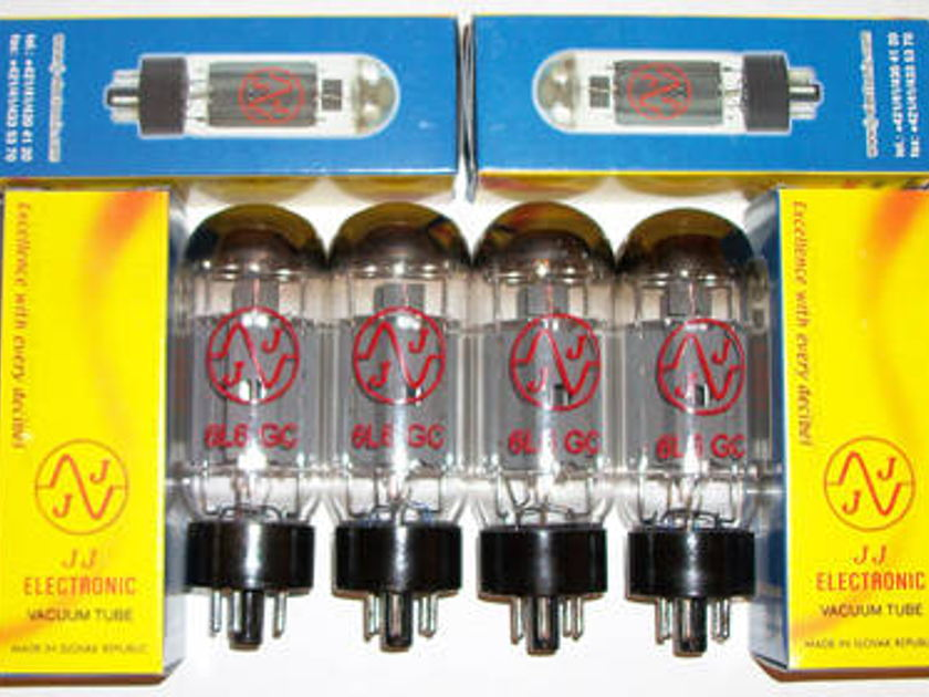 JJ Electronics 6L6GC tubes brand new matched quads !