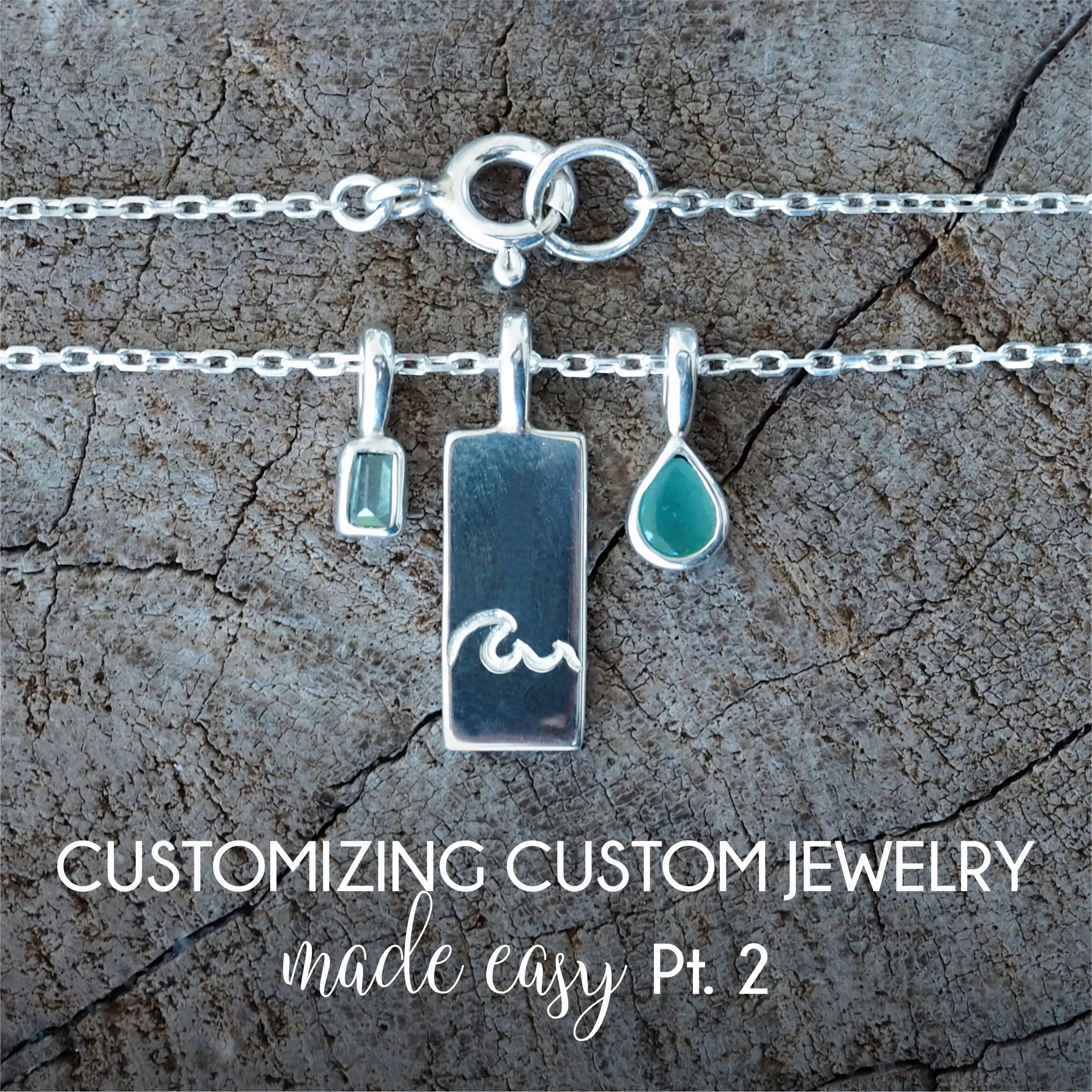 Customized silver jewelry