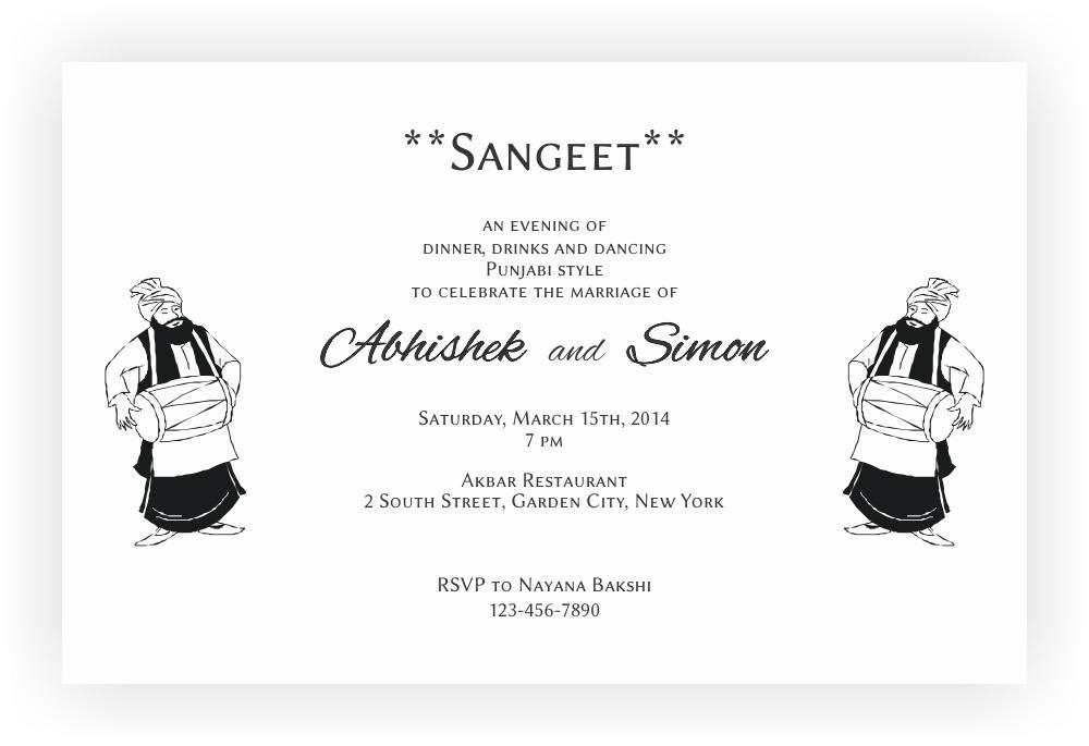 sangeet ceremony invitation wordings  u2013 chococraft