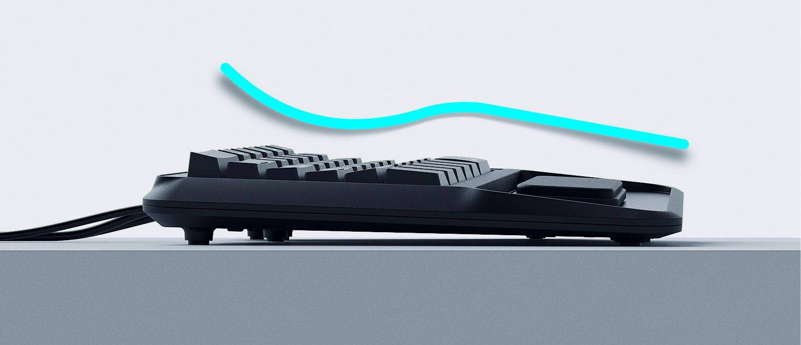 mechanical ergonomic keyboard palm wrist rest typing