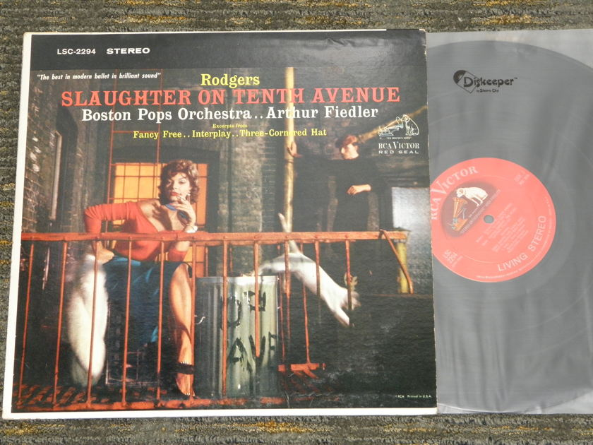 "Arthur Fiedler Boston Pops Orchestra - Rodgers ""Slaughter On Tenth Avenue"" RCA Living Stereo RCA LSC 2294 Shaded Dog"
