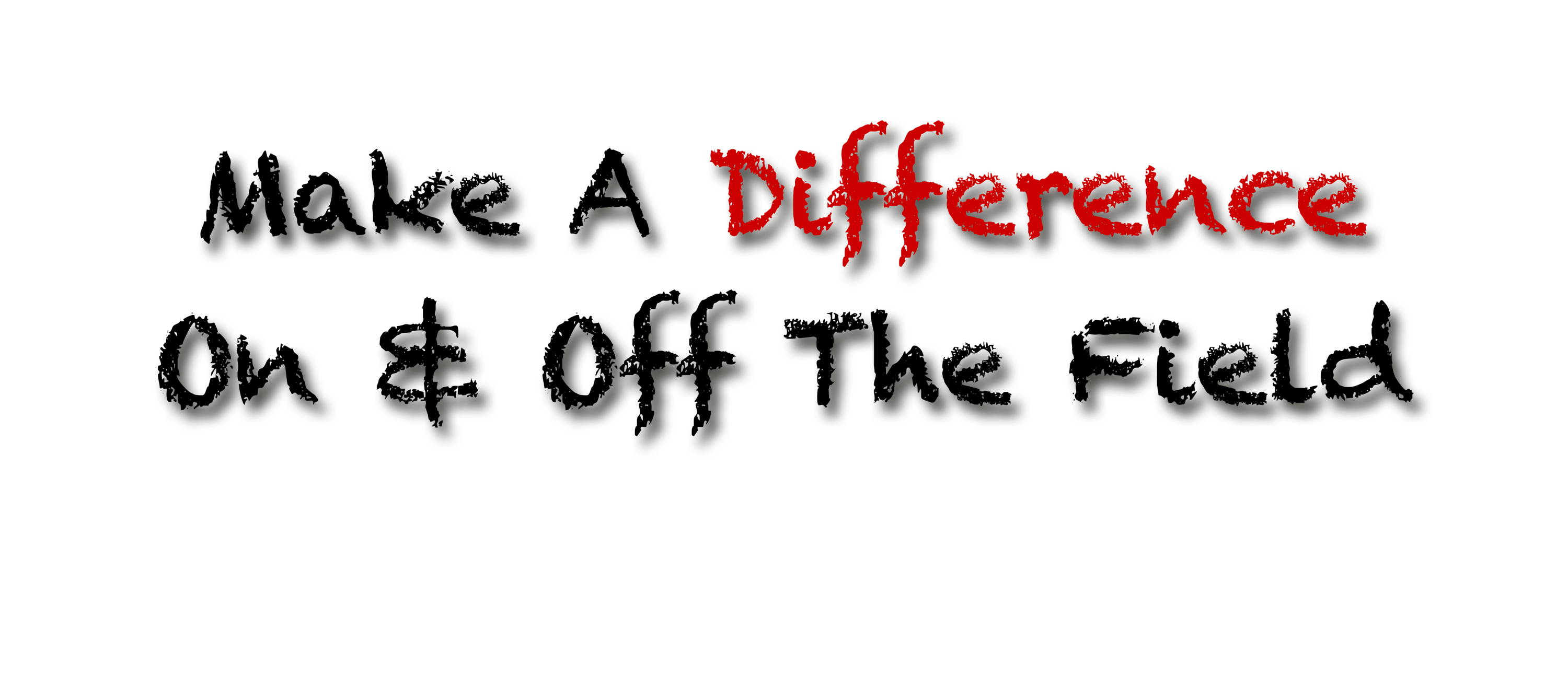 make a difference on & off the field text logo