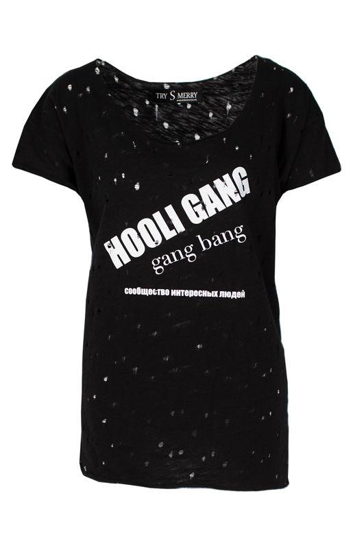 Черная футболка HooliGang