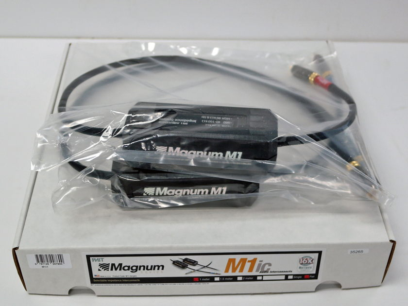 MIT Magnum M1 rca 1m pair, New-Old-Stock Lifetime wrnty