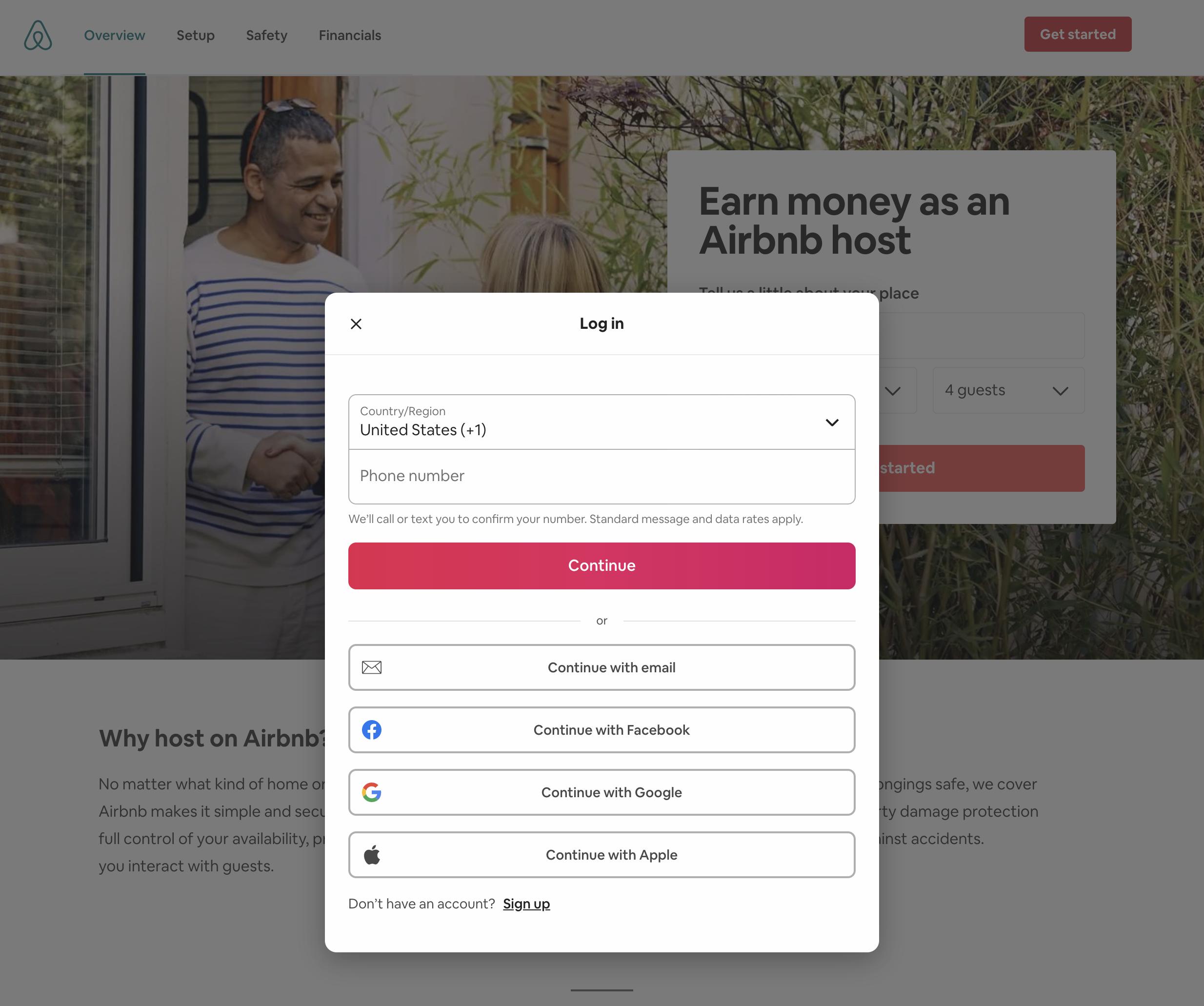 Login airbnb gastgeber Von Startseite
