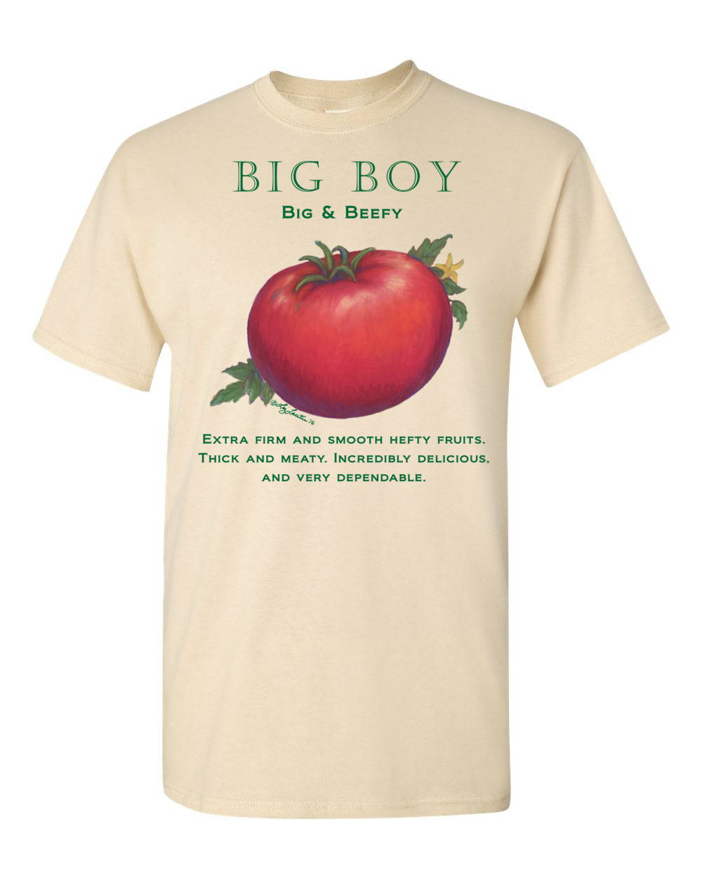 Big Boy tomato t shirt by liz lauter