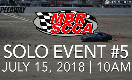 MBR SCCA Event #5 2018
