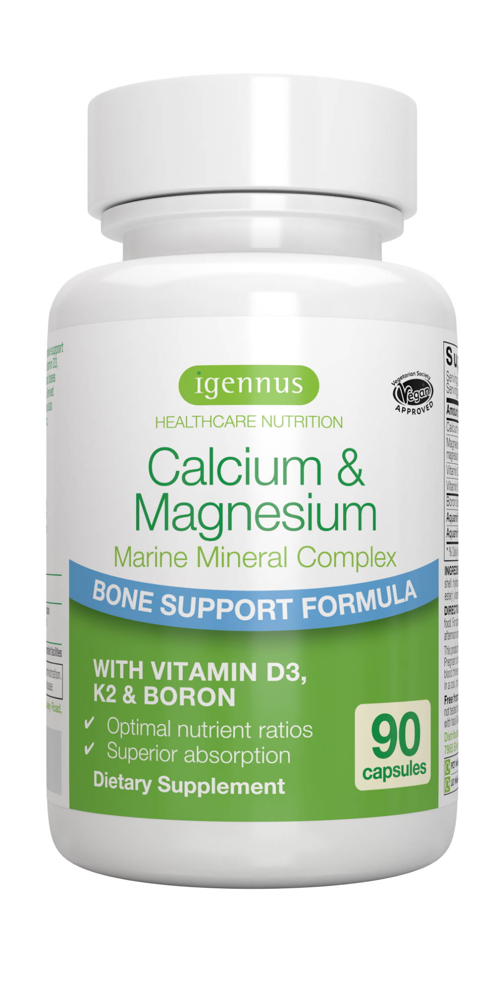 calcium magnesium marine mineral complex provides important nutrients for healthy teeth