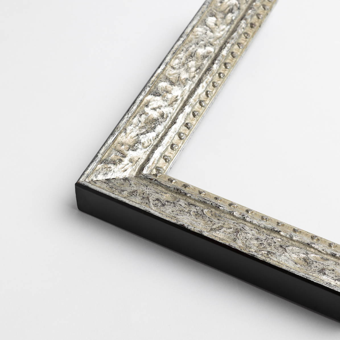 TV-Mirror Patterned Silver Frame by FRAMING TO A T