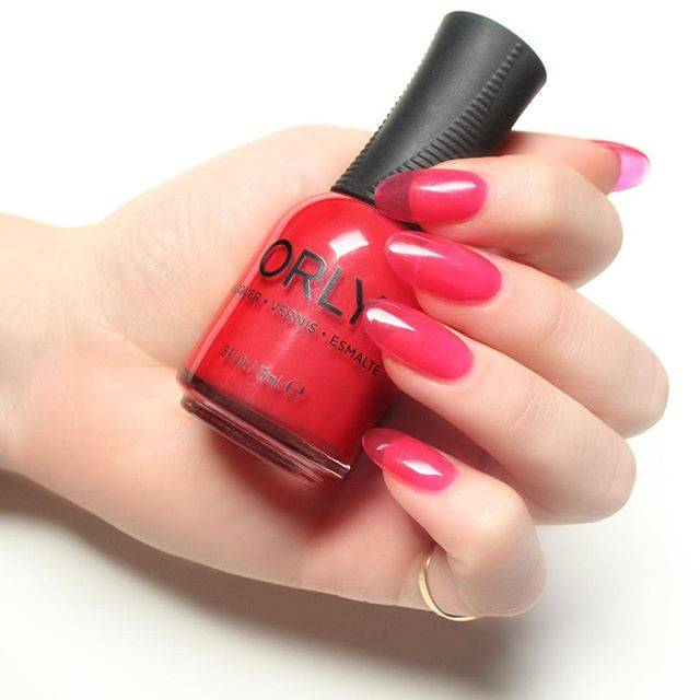 ORLY Jelly Nails using ORLY Builder In A Bottle