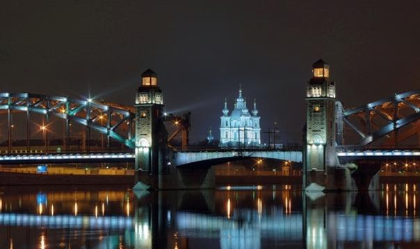 Ночной Санкт-Петербург и разводные мосты