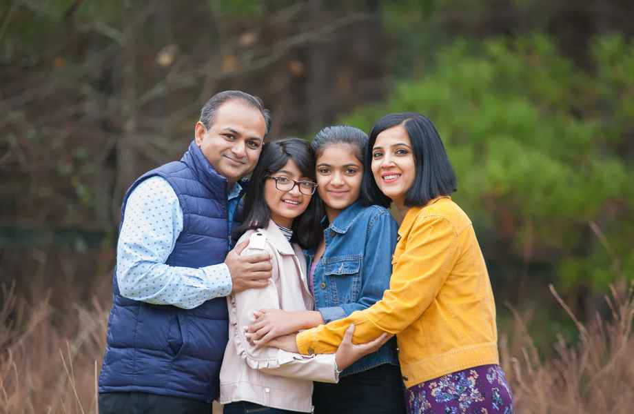 Franchise Owners of Primrose School Pushpa and Charles with their family