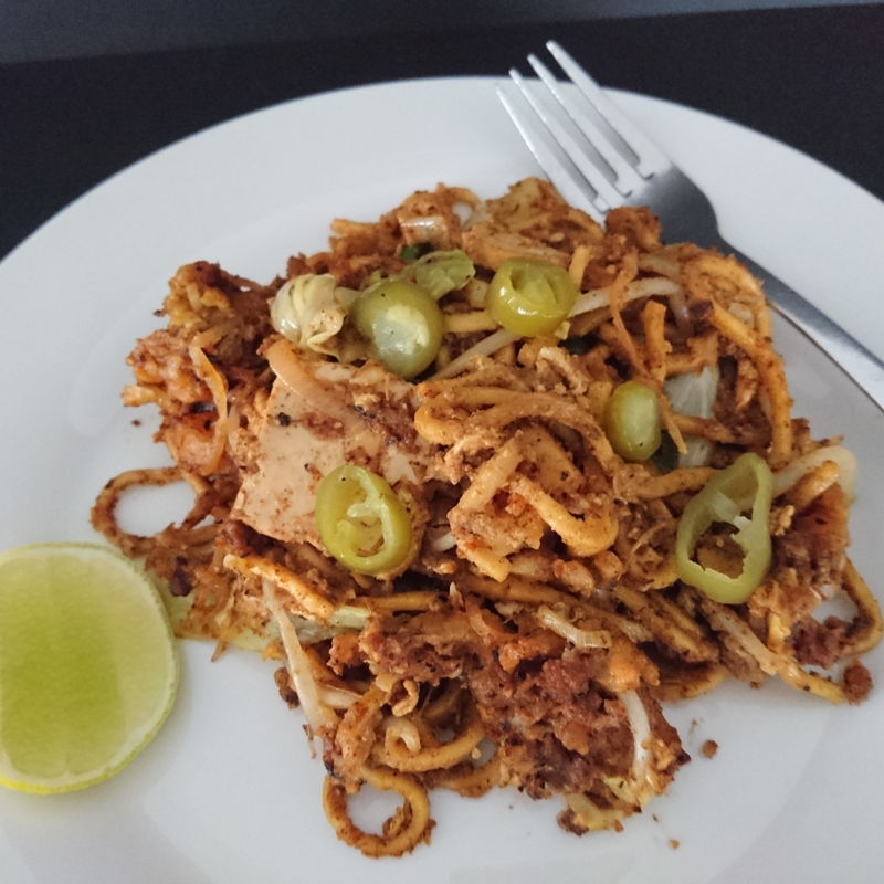 Date: 6 Nov 2019 (Wed) 25th Main: Mee Goreng Mamak (Remake 1) (Score: 9.3)  This was a remake of the one I've prepared on 8 Oct 2019 (Tue). The guardian was shrieking with ecstasy with this remake!