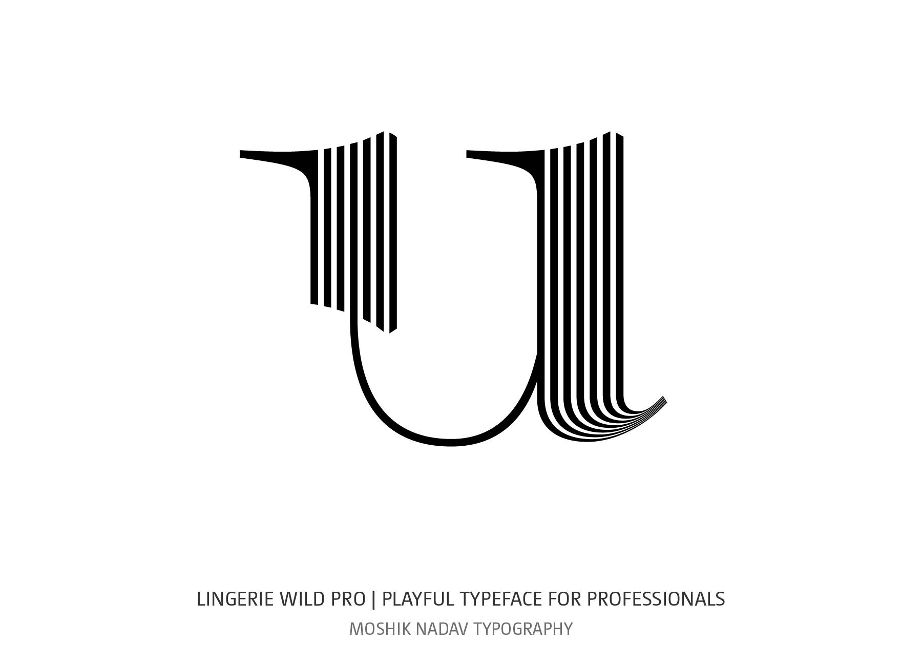 Lingerie Wild Pro Typeface lowercase u designed to create beauty logos