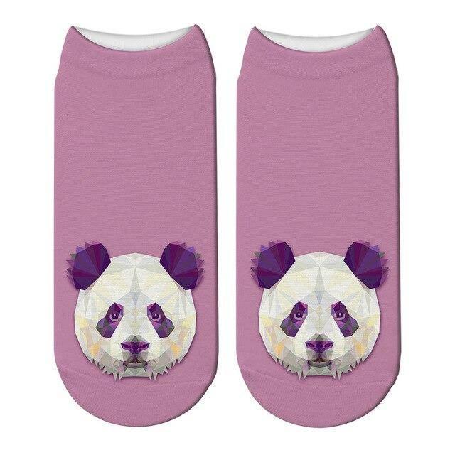 socquettes panda violettes