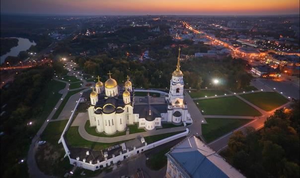 Пешеходная прогулка по центру Владимира