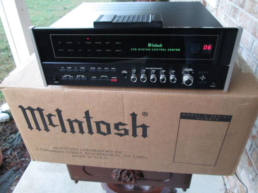 McIntosh C 35  System Control Preamplifer W/Remote in Mcintosh Double Box