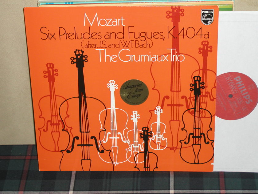 The Grumiaux Trio - Mozart Six Preludes Philips Import LP 6500