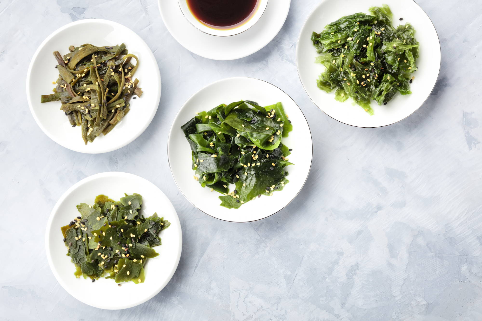 iodine, found in seaweed, supports an underactive thyroid