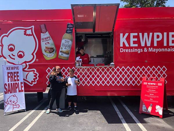 Giant Kewpie food truck