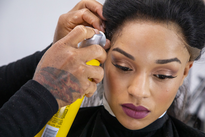 installing a lace wig with adhesive