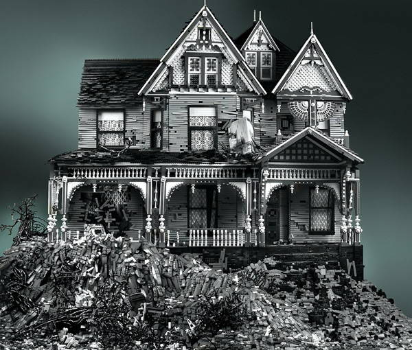 Spooky House LEGO Sculpture