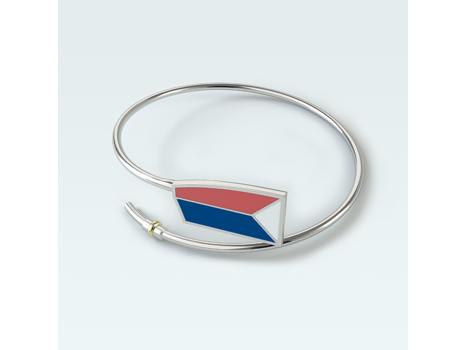 USRowing Sterling/Enamel Bent Oar Bracelet