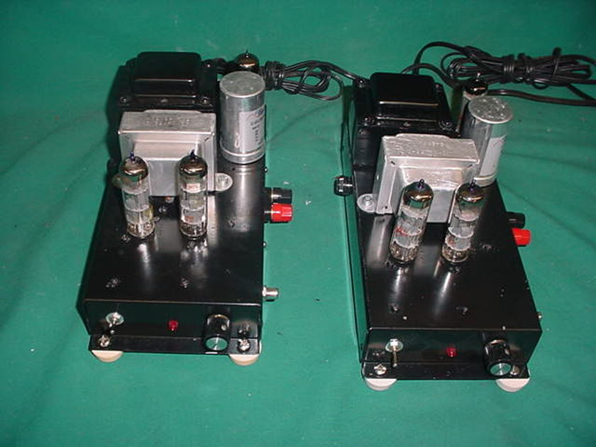 """Hammond 8wpc VHQ Mono amps 6BM8 """"WAVE"""" P-P type  amps serviced and Upgraded / USA"""