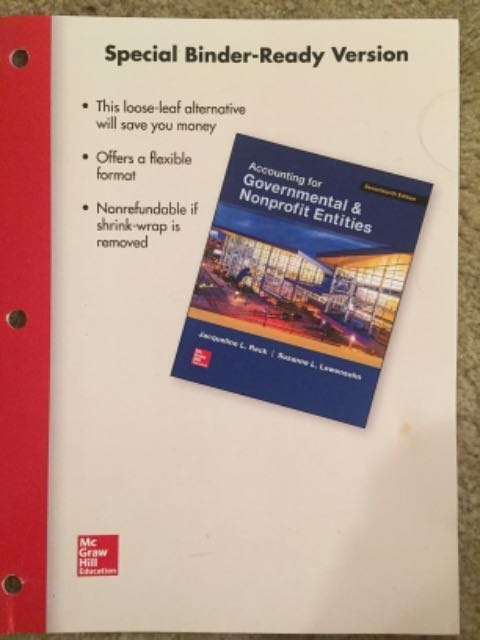 RENTERS BAY: Governmental & Nonprofit Entities Textbook