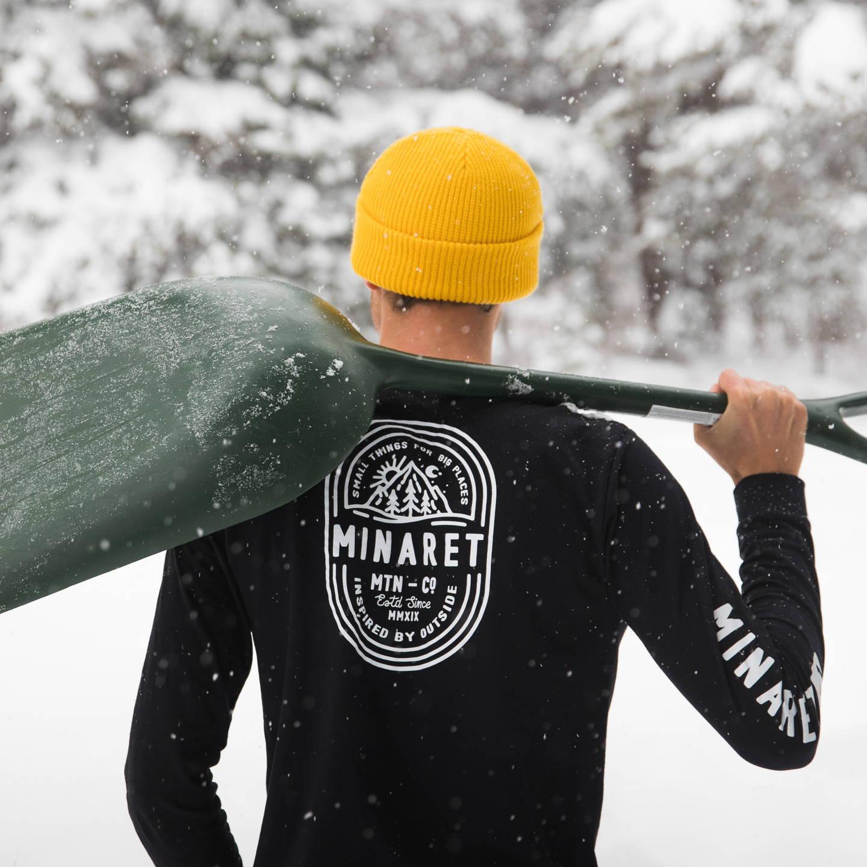 Minaret Black Long Sleeve T-Shirt in Winter