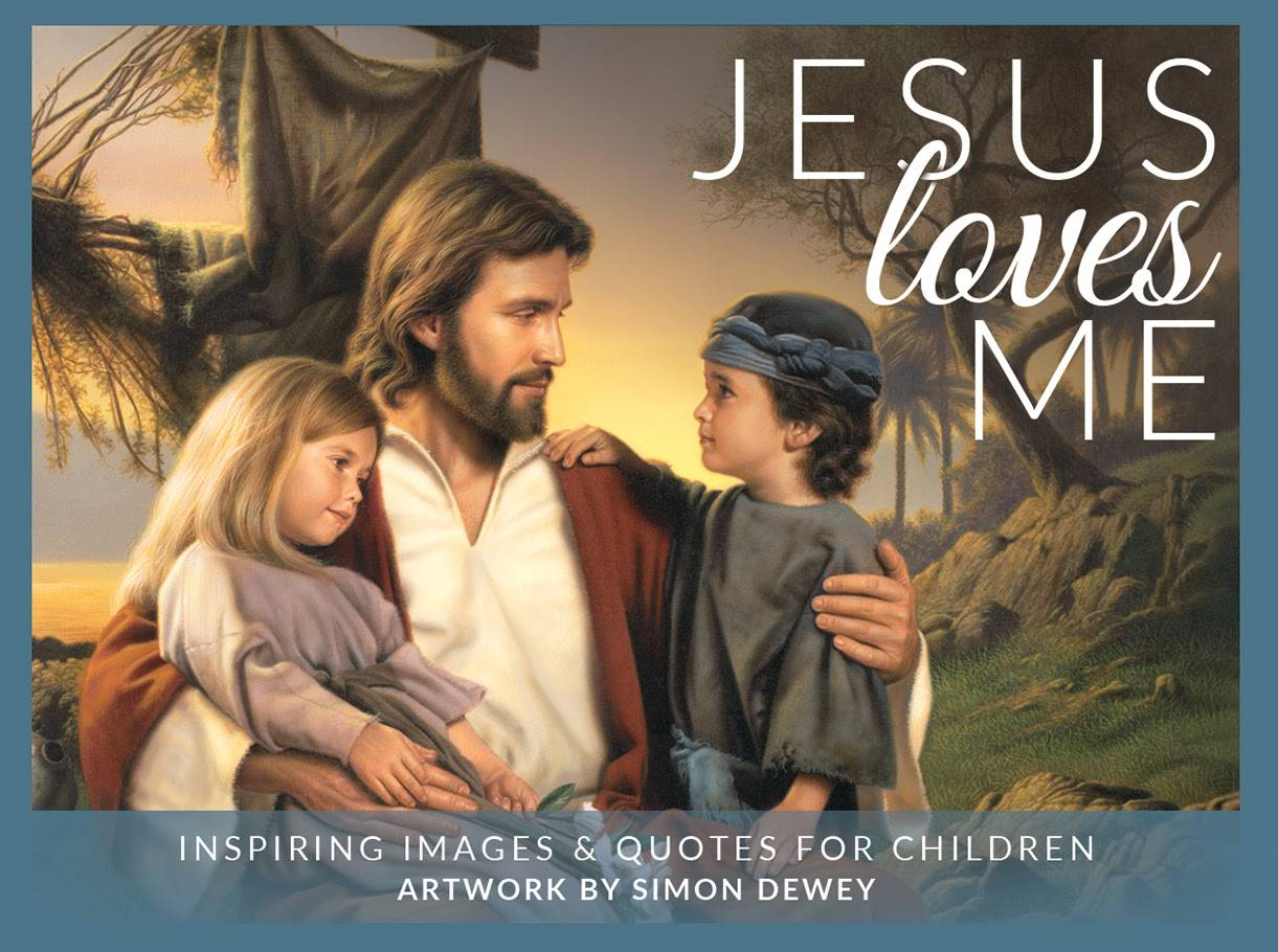 Cover of mini card pack featuring an LDS art image of Christ with children.