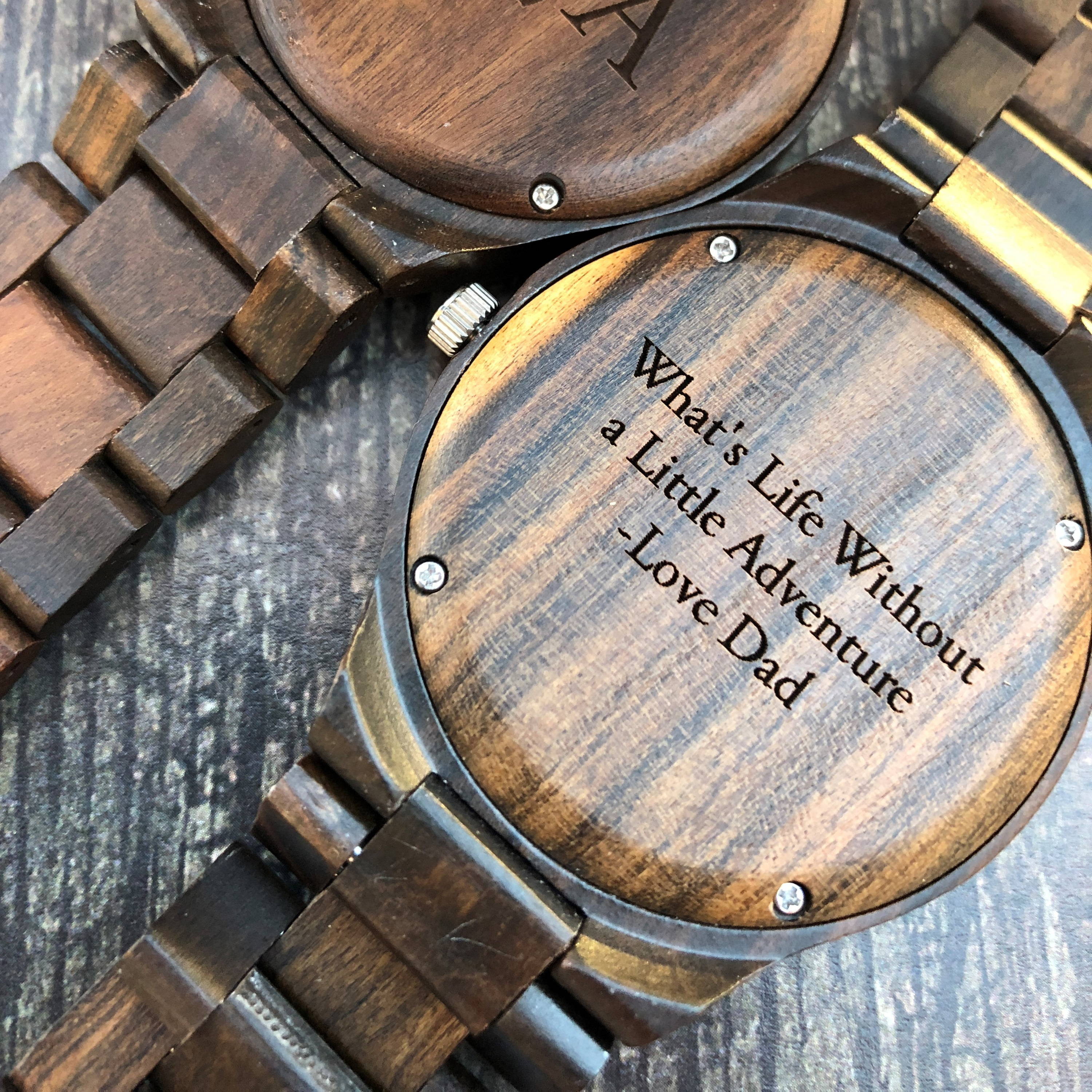 Wood Watch with Quote Engraved for Graduation