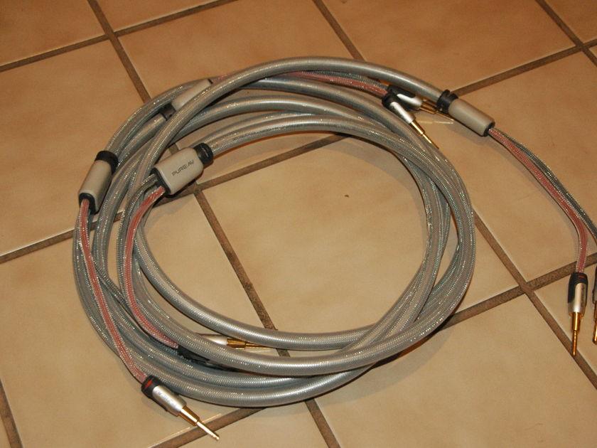 High Performance Speaker Cables Pure AV Silver 14 AWG  BFA bananas