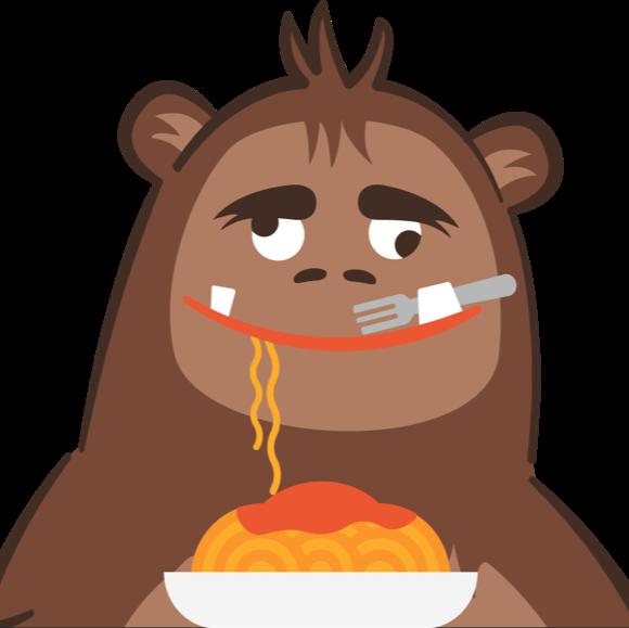 Spaghetti yetti logo   brown no legs