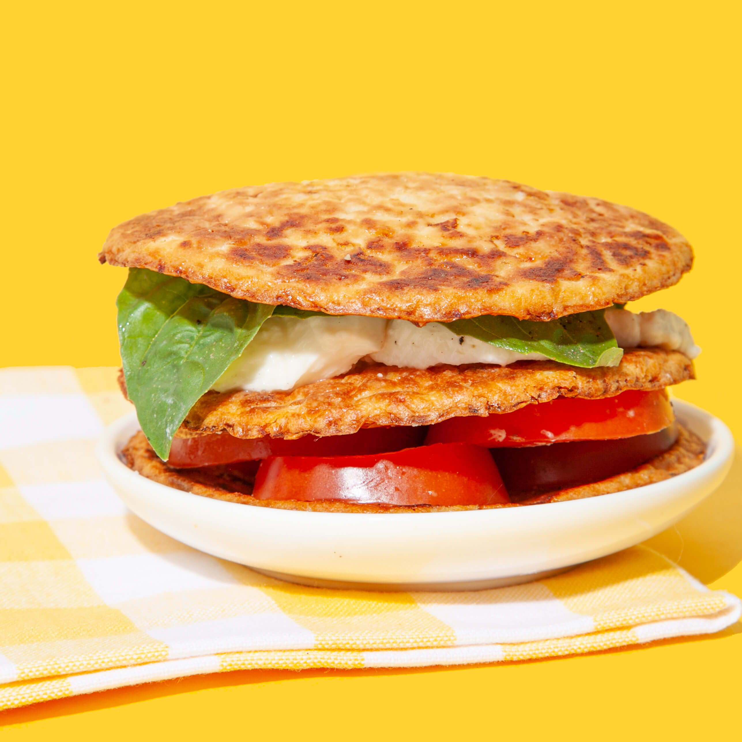 cauliflower sandwich thins layered over each other