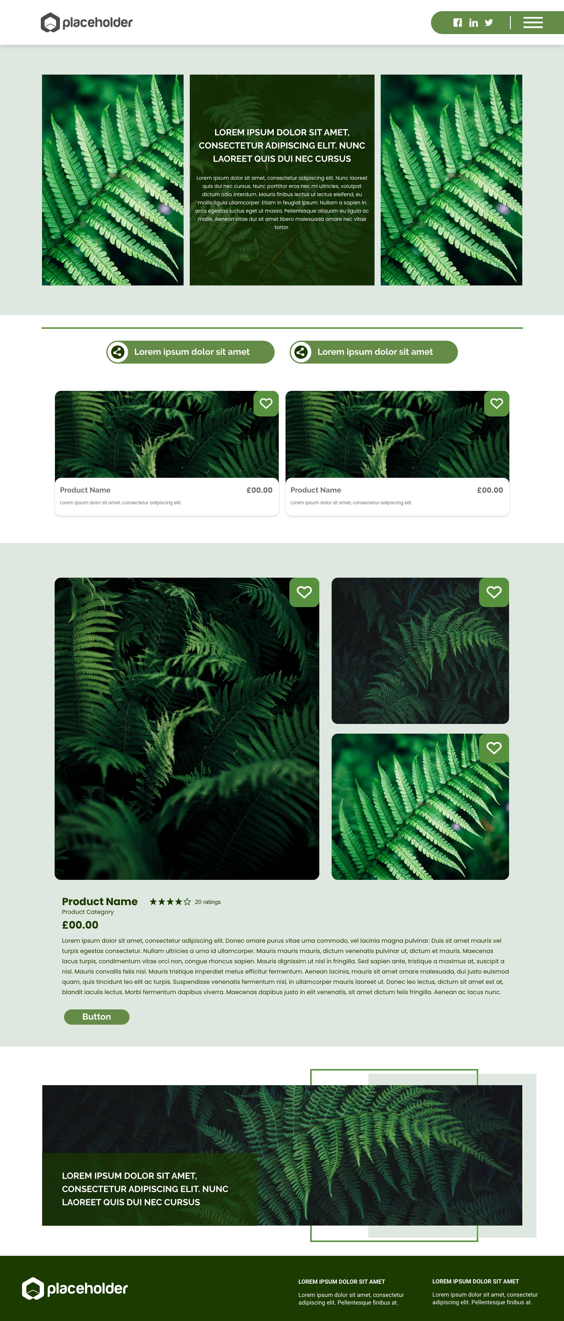 Fern template's gallery image