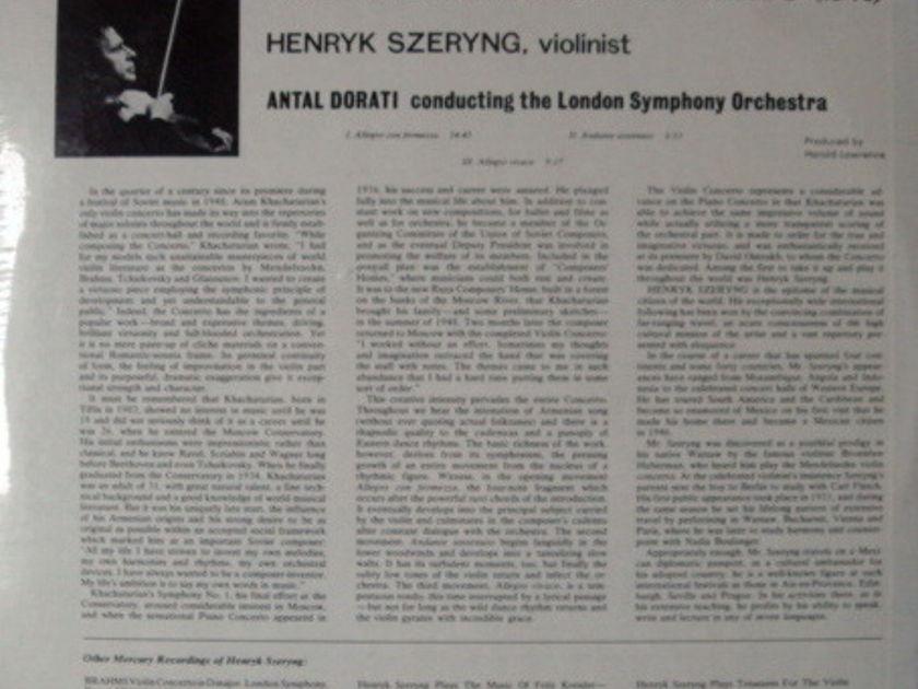 ★Sealed★ Mercury / SZERYNG-DORATI, - Khachaturian Violin Concerto, Original!
