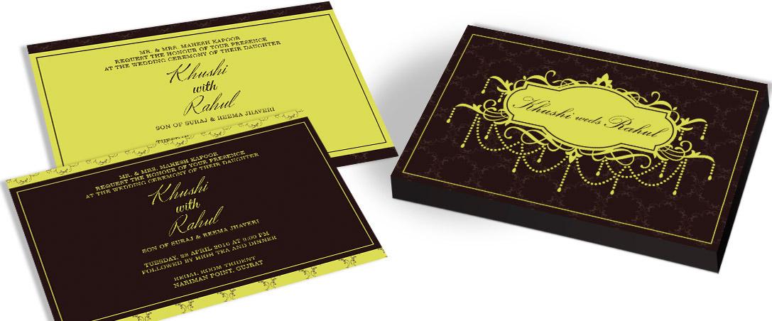 Modern Marriage Invitation card