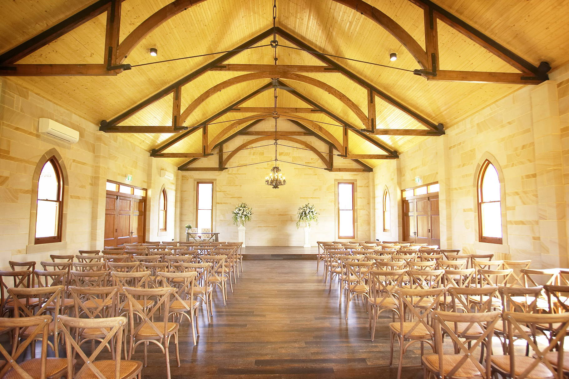Beautiful photo of inside Peterson House Wedding Chapel in Hunter Valley Winery