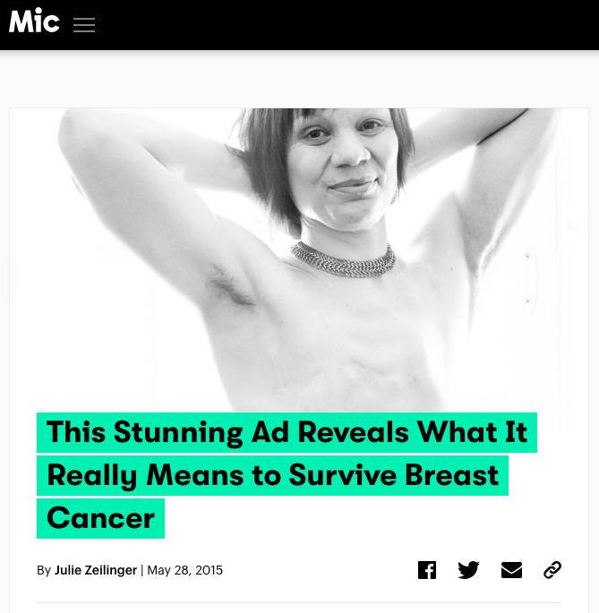 Mic.com - This stunning ad reveals what it really means to survive breast cancer