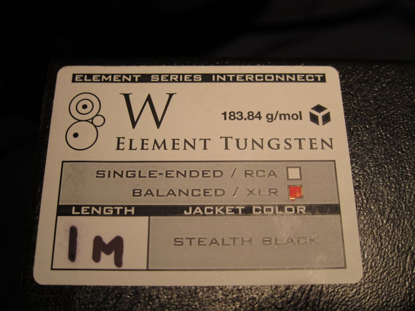 Synergistic Research Tungsten 1-meter, XLR