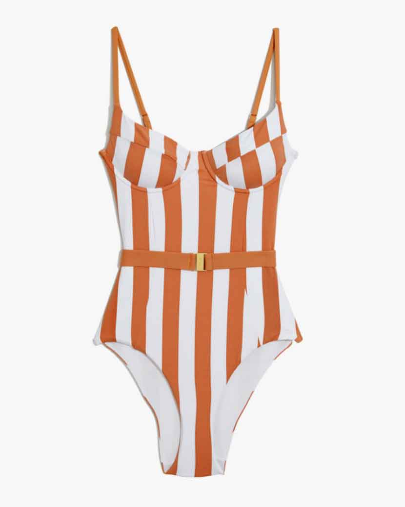 Onia X WeWoreWhat Danielle Swimsuit - Striped   £149