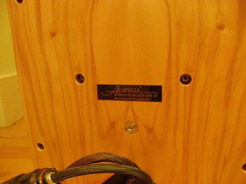 ACAPELLA AUDIO ARTS HIGH HARLEKIN MK 2 - STUNNING CHERRY FINISH, mint dealer demo, OBM, w/ warranty, SAVE $14K!