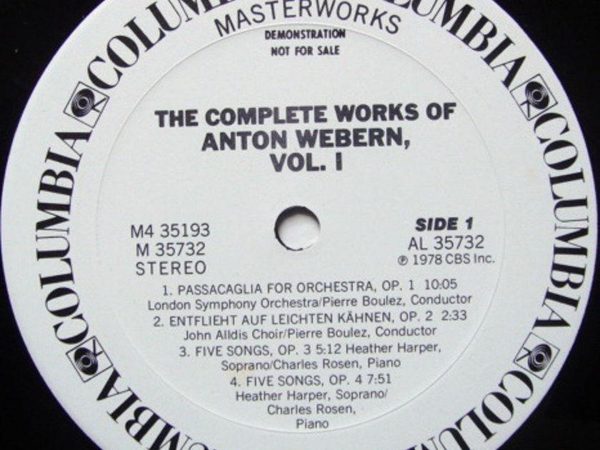Columbia / BOULEZ, - The Complete Works of Webern Vol.1, MINT, 4LP White Promo Box Set!