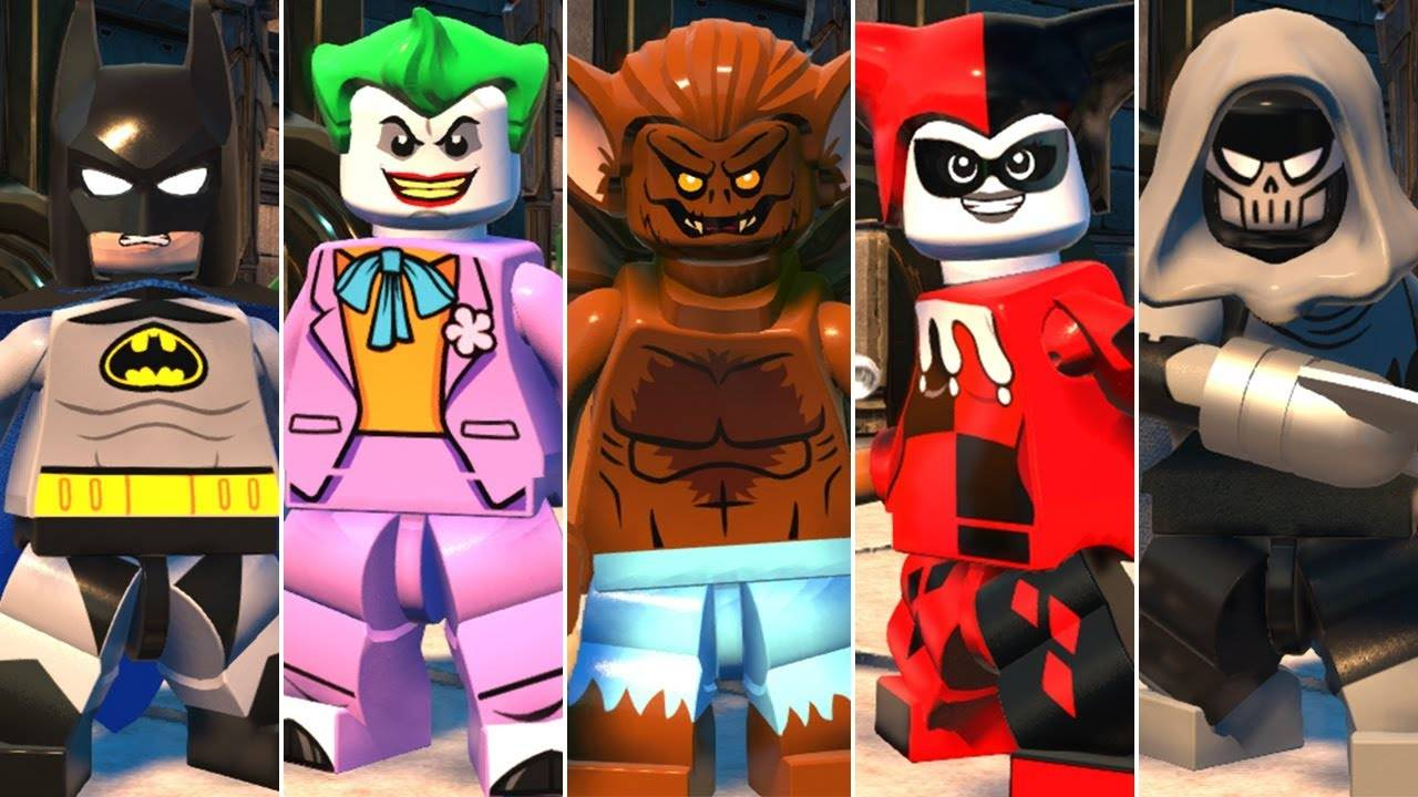 LEGO DC cartoon characters