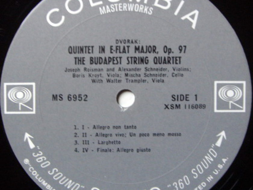 Columbia 2-EYE / BUDAPEST QT-TRAMPLER, - Beethoven-Dvorak String Quintets, MINT!