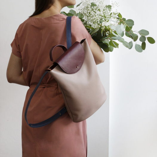 Кожаный рюкзак Flap Pack Powder Scandi Garden